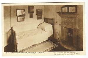 RLS's bedroom at Swanston Cottage